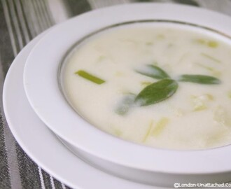 5:2 Diet Recipe – Cream of Leek Soup #Vegetarian #Vegan