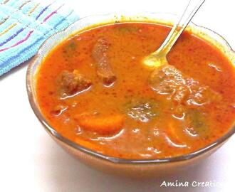 GOSHT GAJAR MEHTI KI BHAJI SALAN/ MUTTON CARROT FENUGREEK LEAVES CURRY