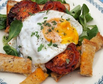 Trains, Sandwiches and British Egg Week: French Egg & Tomato Breakfast Tartine with Lovage