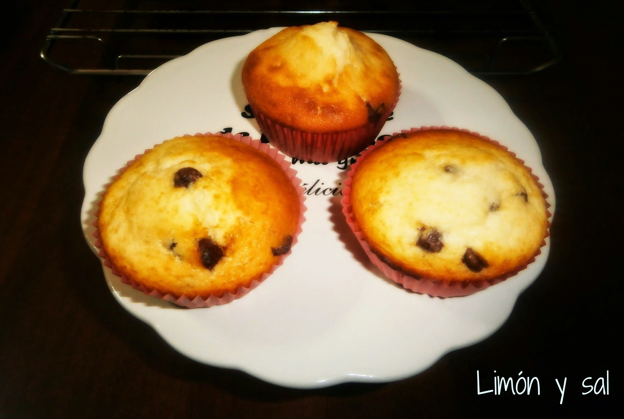 Muffins de Yogur y Chips de Chocolate