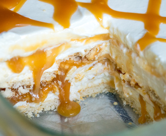 Ritz Cracker Salted Caramel Icebox Cake