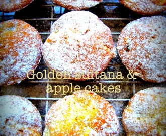 Golden sultana and apple cakes - recipe