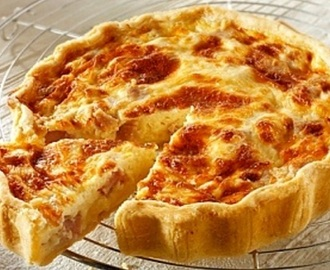 Quiche de bacon y queso facil