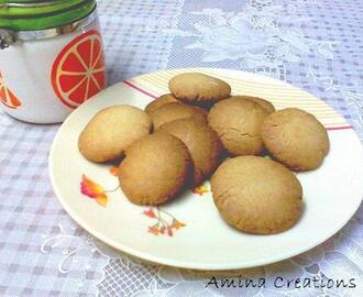 WHOLE WHEAT BUTTER COOKIES (EGGLESS)