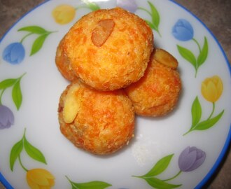 Carrot Coconut Laddu / Halwa