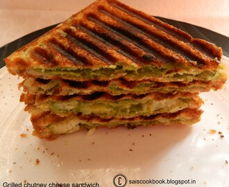 Grilled chutney cheese sandwich
