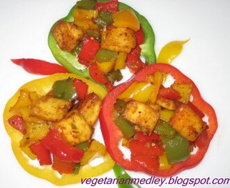 Paneer and Bellpepper Stir-Fry