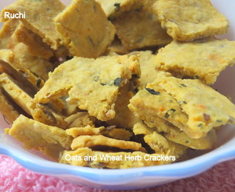 Oats and Wheat Herb Crackers