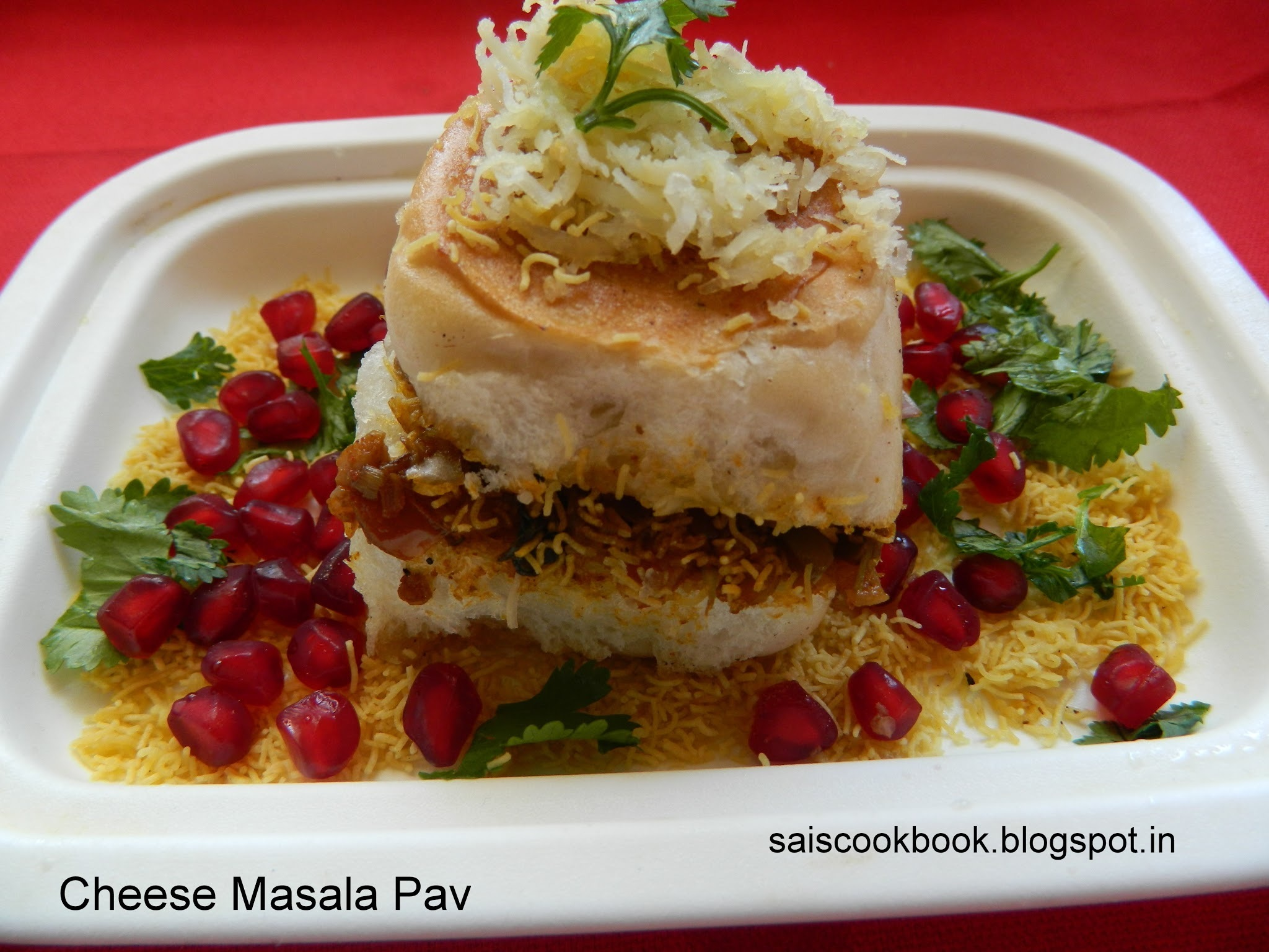 Cheese Masala Pav,A popular street food of Mumbai