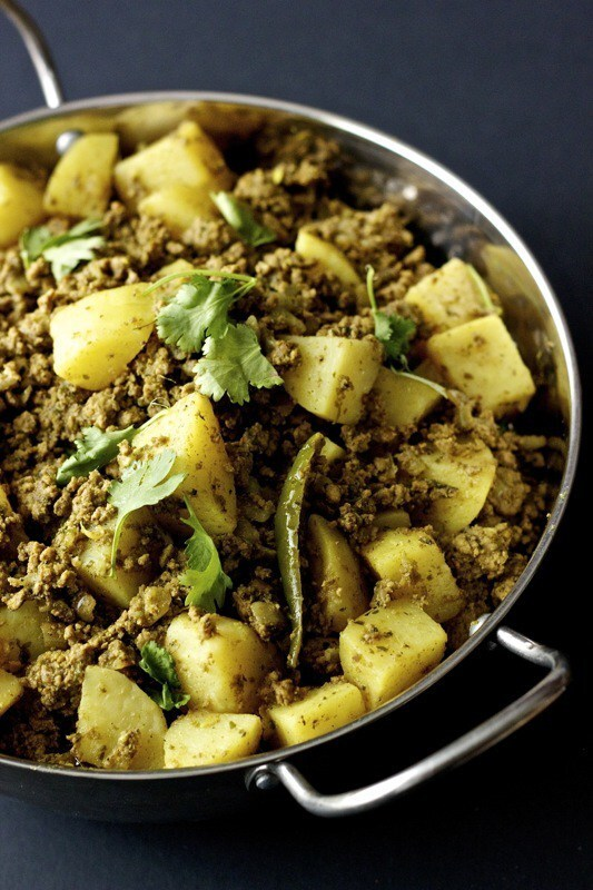 Kheema Aloo | Ground Meat and Potato Curry