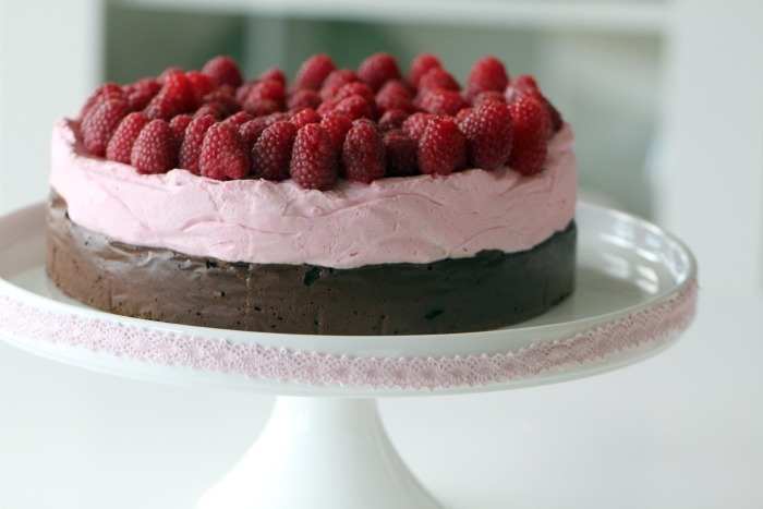 Flourless Chocolate Cake & Fresh Raspberry