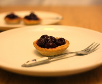 Low Sugar Mini Cherry Tarts - Great for kids or grown ups