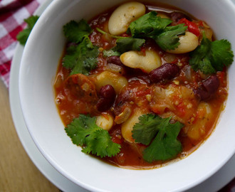 Chorizo, Tomato and Chilli Bean Stew