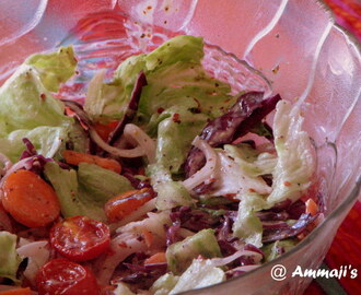Garden salad with Yogurt Mustard dressing