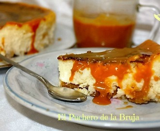 TARTA DE QUESO, CHOCOLATE BLANCO Y TOFFEE