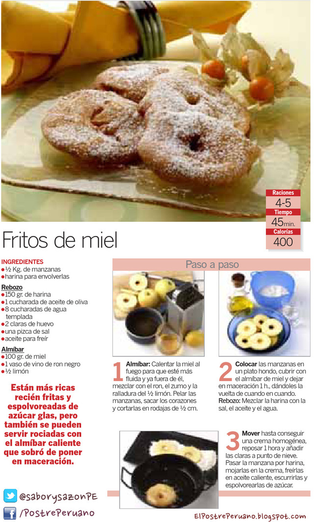 RECETA SENCILLA DE FRITOS DE MIEL - RECIPES