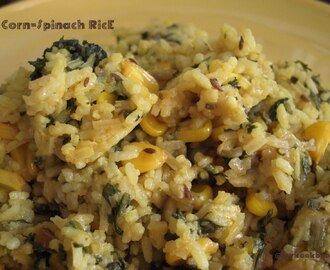 Corn Spinach Rice