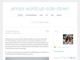 Anna's world up-side-down