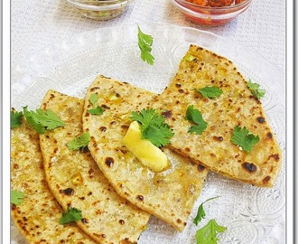 Cabbage Stuffed Paratha.. (Indian Flat Bread Stuffed With Cabbage)