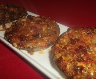 Stuffed Flat Mushrooms