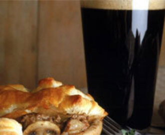 Beef and Guinness puff pastry pie