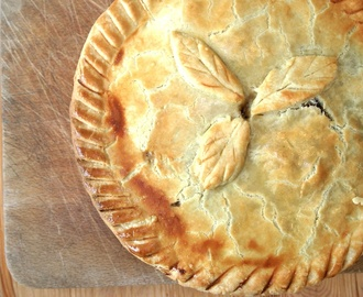 veggie mince and onion pie