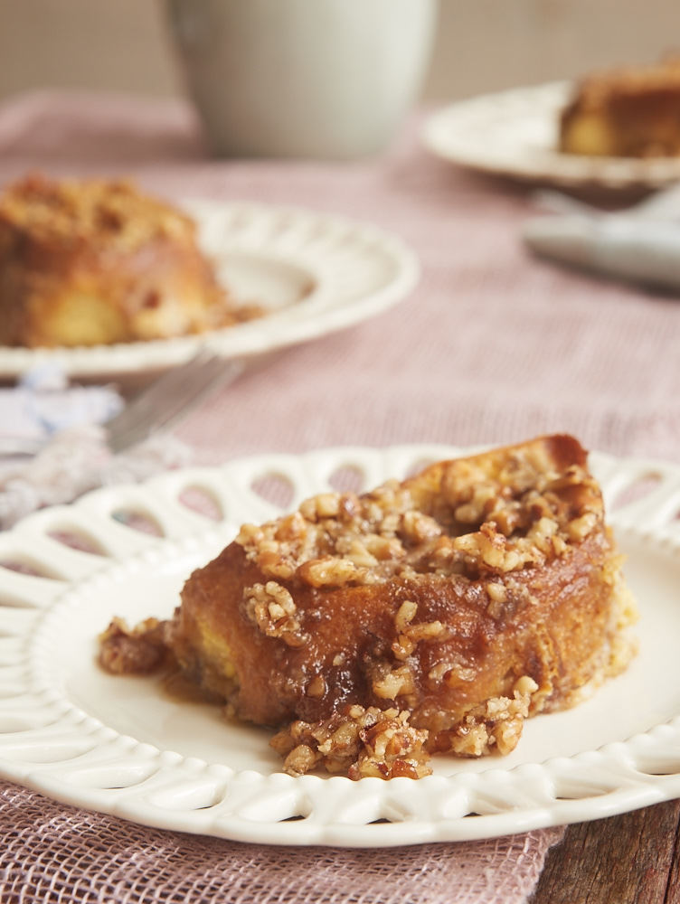 Baked Praline French Toast is a fantastic make-ahead breakfast with the irresistible flavors of pecan pralines. - Bake or Break