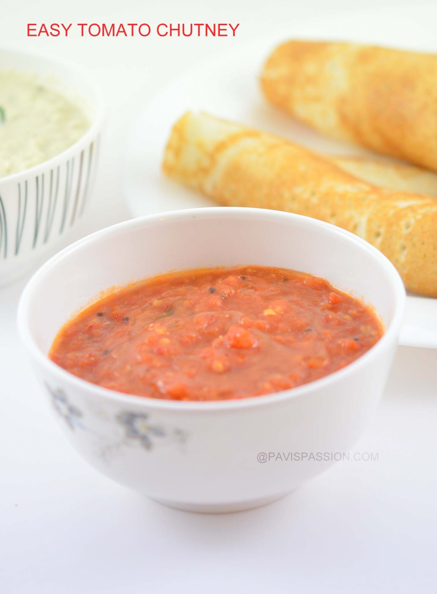 Quick Tomato Chutney, Chutney recipe for Idly Dosa, Thakkali Chutney, No Garlic No Onion Chutney