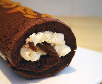 chocolate orange roulade for Eric Lanlard