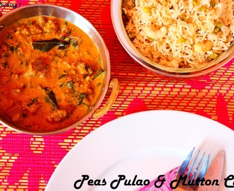 Peas Pulao & Mutton Curry