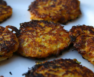 Carrot and Onion Fritters... or 'how I became a bee.'