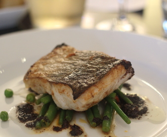 Pan Fried Halibut with Olive Tapenade & Beans