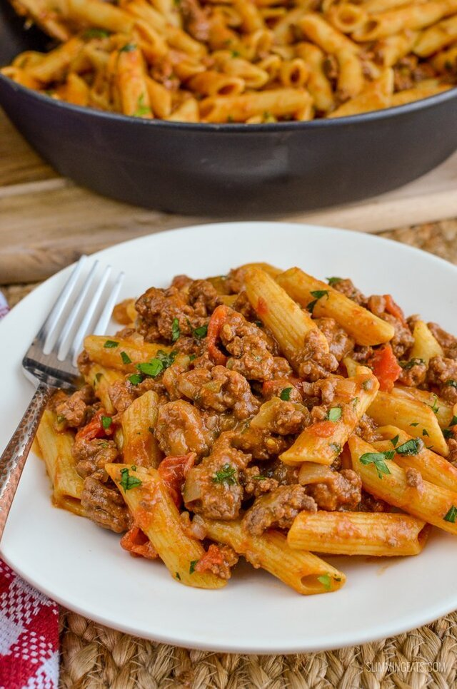 Syn Free One Pot Cheeseburger Pasta