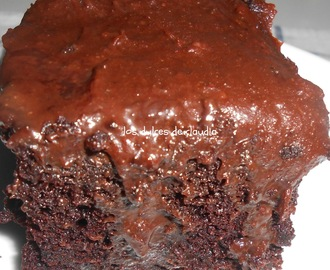Chocolate poke cake