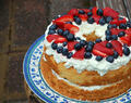 Berry Filled Angel Food Cake