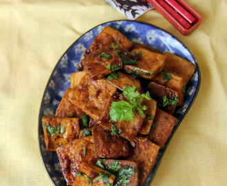 Simple Pan Fried Tofu - Simple sidedish recipe - Simple and healthy recipes with Tofu