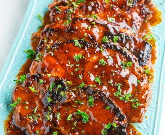 Balsamic Honey and Mustard Pork Chops