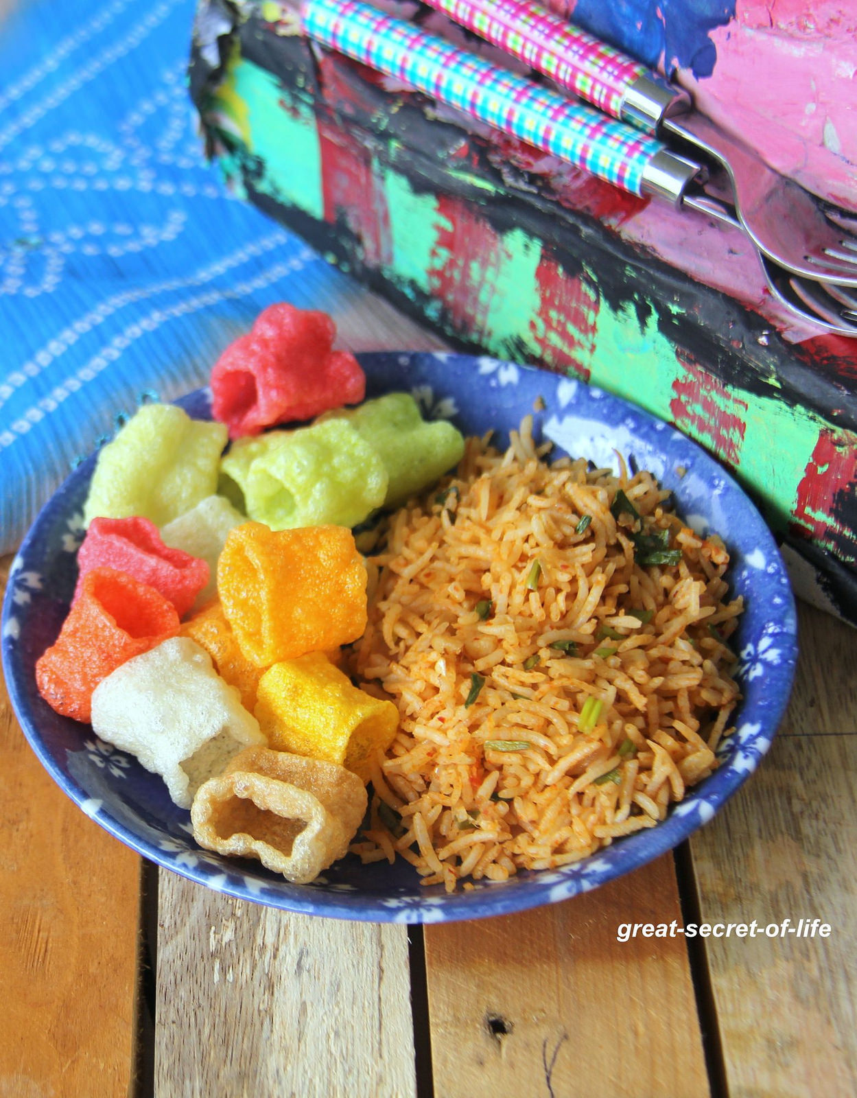 Thai Red Curry Rice - Simple one lunch box recipe