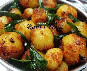 Baby Potato Fry | Pan Fried Potato | Aloo Fry | Baby Potato Varuval
