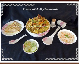 Hyderabadi Vegetable Dum Briyani, Double Ka Meeta - Andra Pradesh