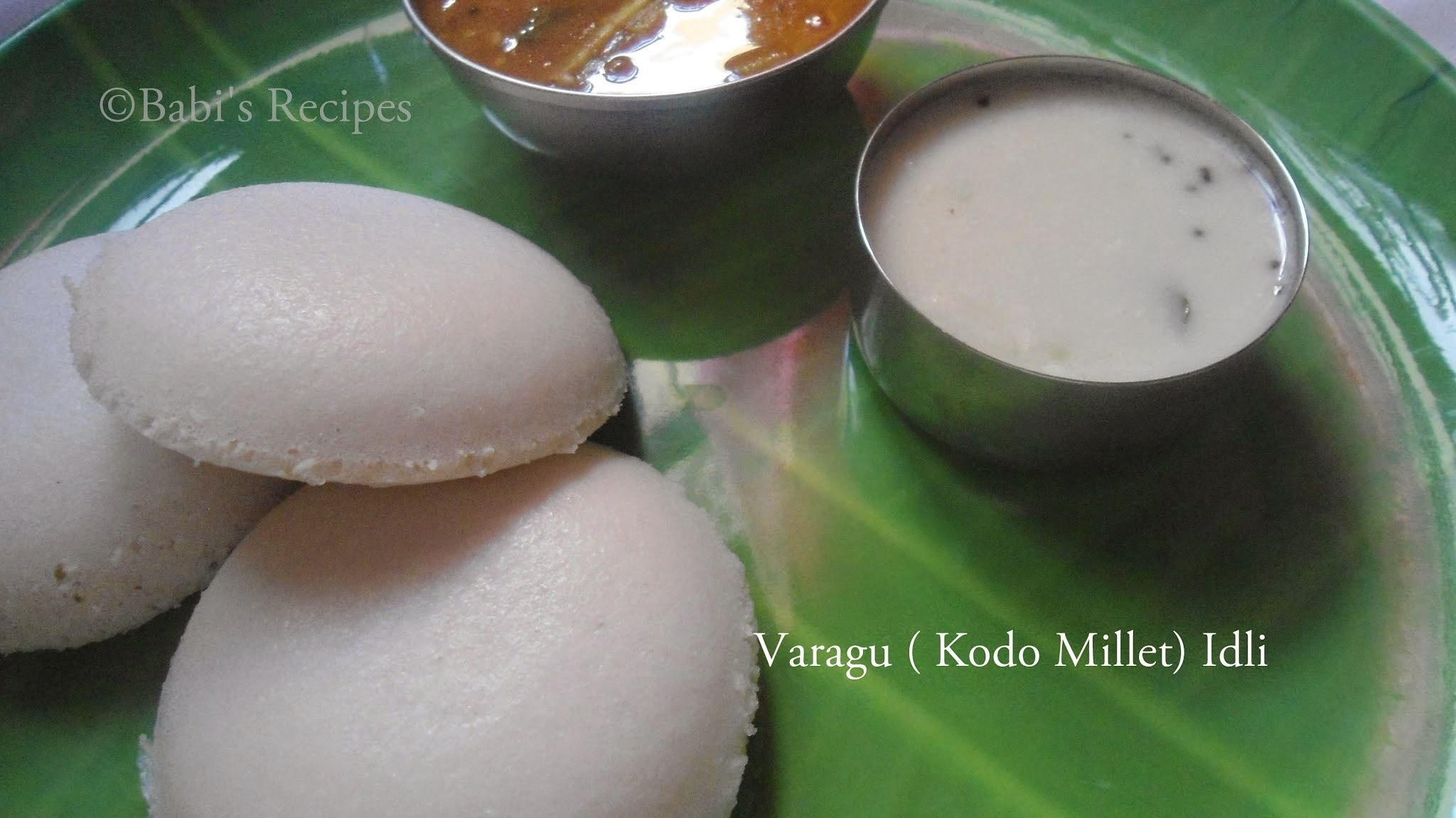 Varagu ( Kodo Millet ) Idli | Healthy Millet Breakfast Recipe