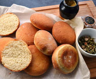 soft bread rolls with ham and truffle mustard - recipe