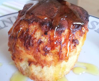 Cheddar, bacon and golden syrup muffins