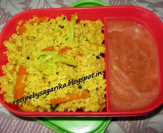 DALIA UPMA (BROKEN WHEAT UPMA) ... A HEALTHY BREAKFAST