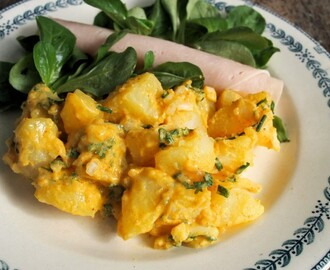 5:2 Diet Fast Day Recipes: Coronation Potato Salad and Low-Fat Pan-Fried Garlic Hake Fillets