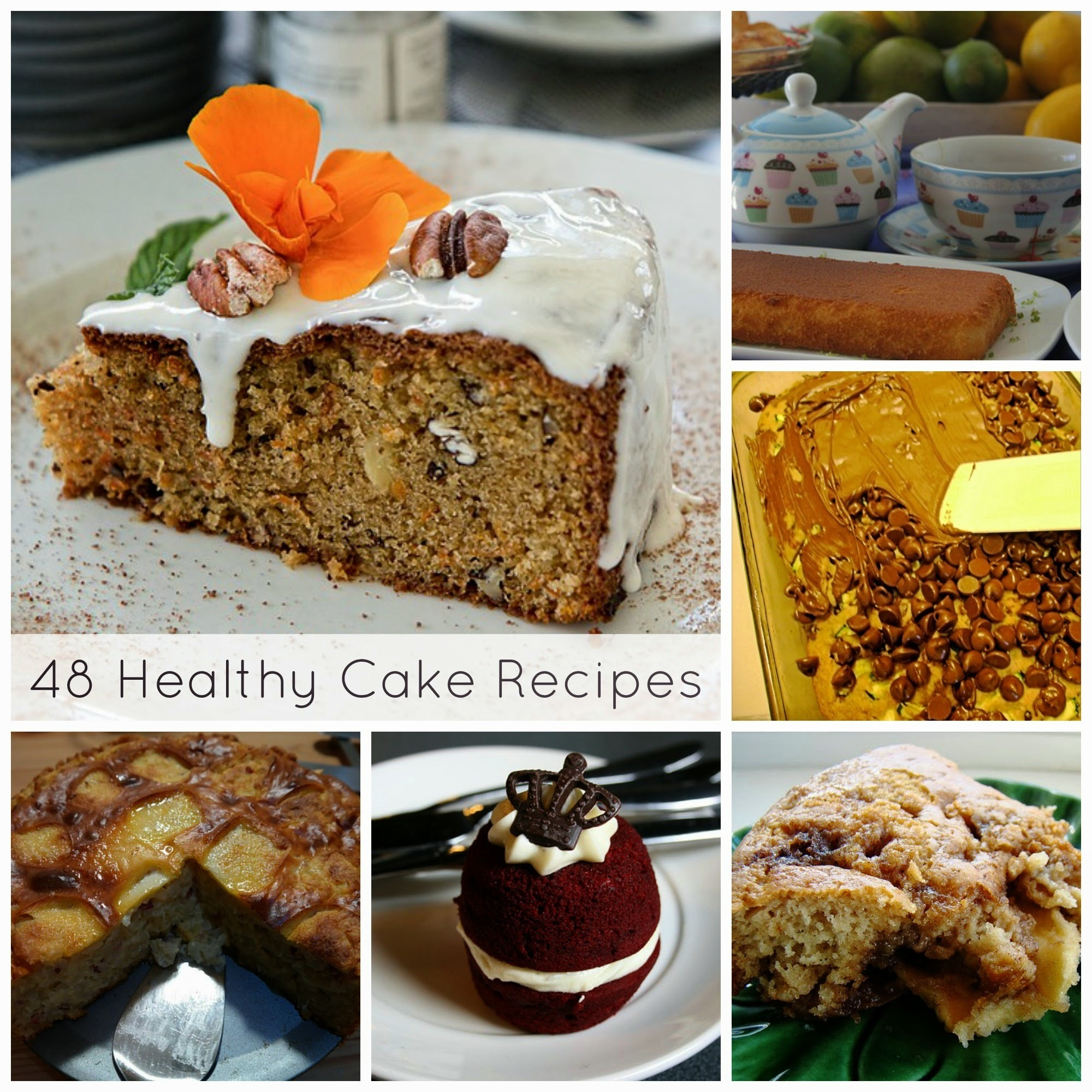 48 Healthy Cake Recipes