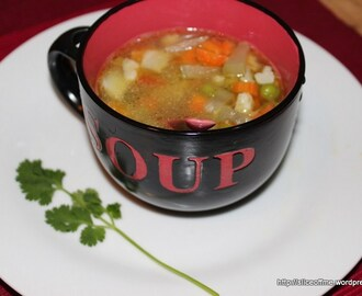 Clear Veg soup- my way, Easy Cooking,Healthy Food.