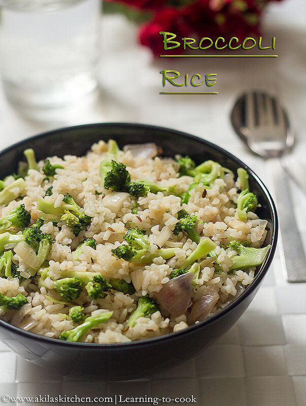 Broccoli Rice | Indian Style Broccoli Rice | Easy Lunch Box Recipes | One Pot meals | Indian Variety Rices | Broccoli Recipes