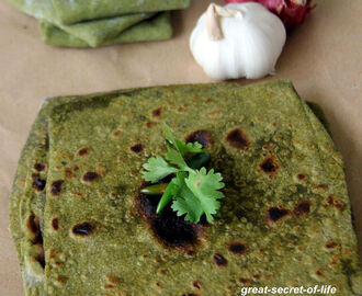 Spinach Chaphati - Spinach Chapati - Spinach Roti - Spianch Paratha - Palak Paratha - Palak Roti - Simple dinner or lunch recipes