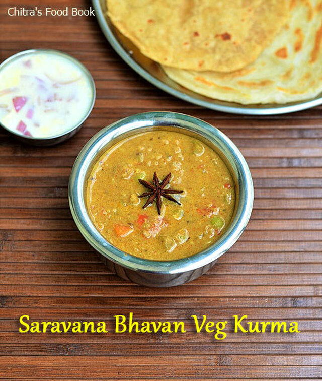 Saravana Bhavan Kurma Recipe-Hotel Vegetable Kurma For Parota,Roti